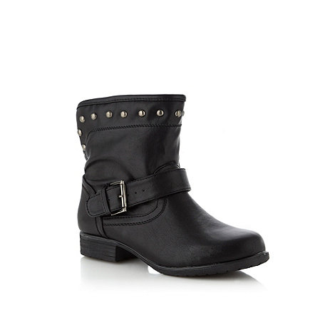 Call It Spring - Black +Anastasia+ studded ankle boots