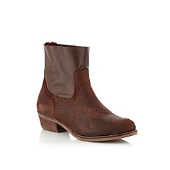 Call It Spring - Brown leather 'Bendova' low ankle boots