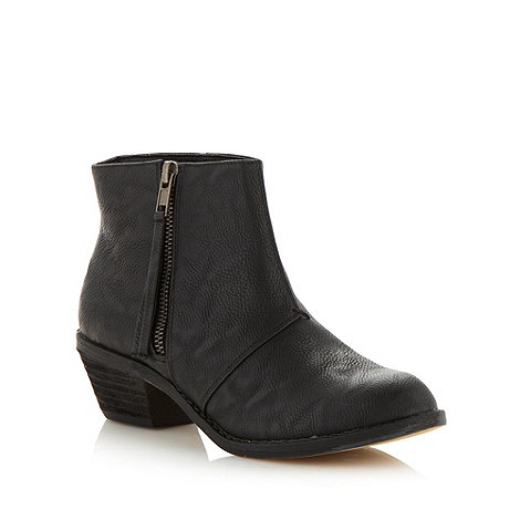 Call It Spring - Black +magne+ mid heel ankle boots