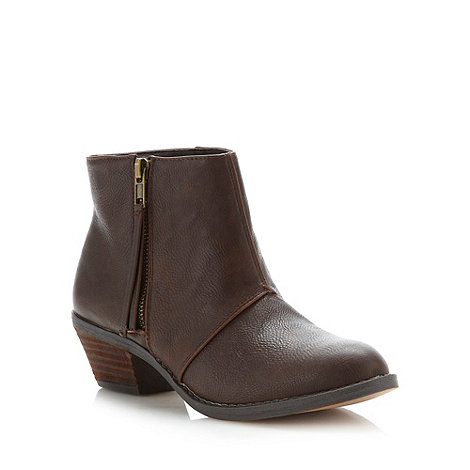 Call It Spring - Dark brown +magne+ mid heel ankle boots