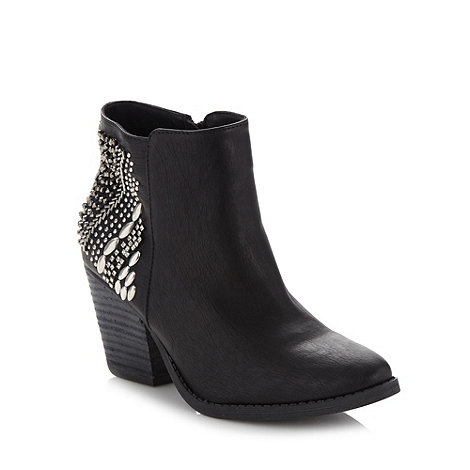 Call It Spring - Black +Scadlock+ mid heel ankle boots