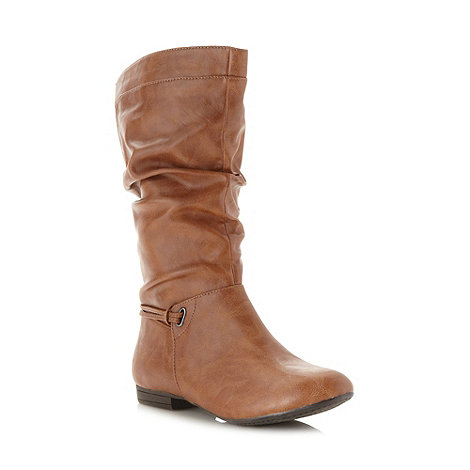 Call It Spring - Brown 'Jandik' calf length boots