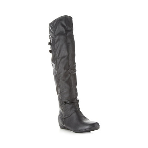 Call It Spring - Black +clairday+ concealed wedge knee high boots
