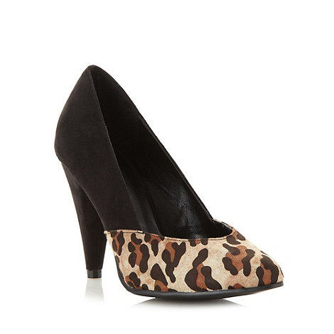 Call It Spring - Black +Batara+ leopard print high heel