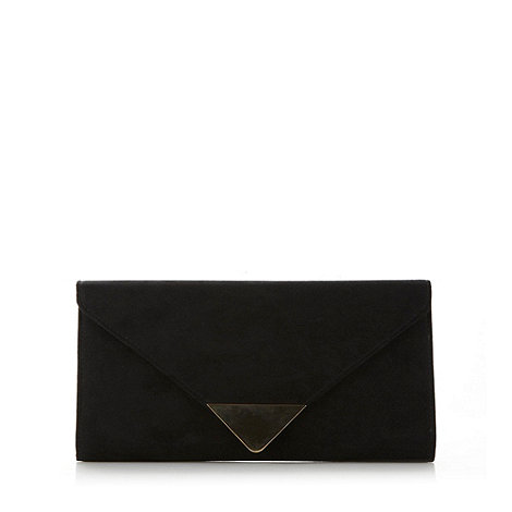 Call It Spring - Black suedette gold trim +Elroosie+ clutch bag