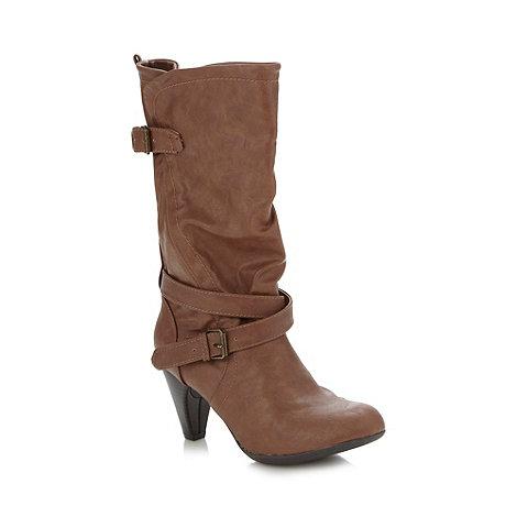 Call It Spring - Tan +Ardyth+ high heel boots