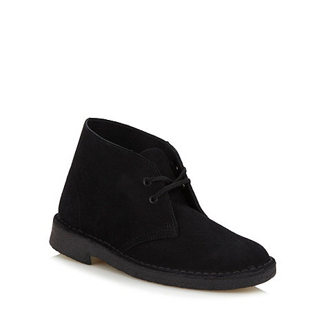 Clarks - Originals black leather desert boots