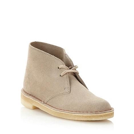 Clarks - Natural suede desert boots