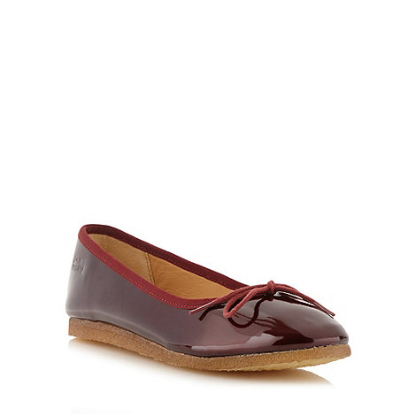 Clarks - Dark red patent leather +Lia Jive+ pumps