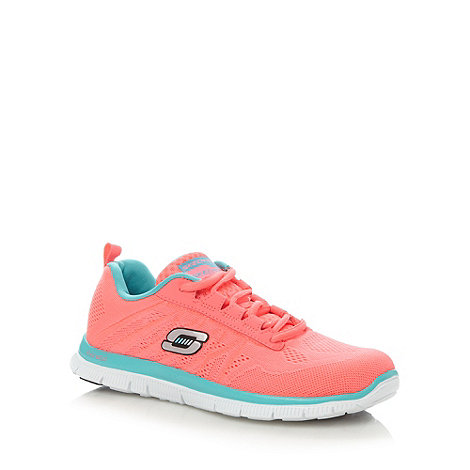 Skechers - Bright pink +Flex Appeal - Sweet Spot+ lace up trainers