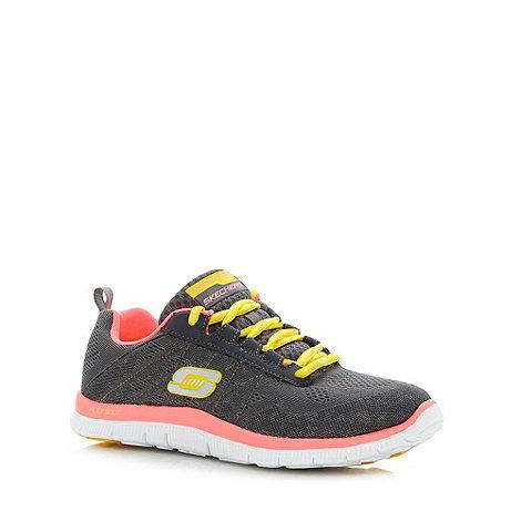 Skechers - Grey +Flex Appeal - Sweet Spot+ lace up trainers