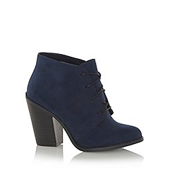 Call It Spring - Navy faux suede 'Borovsky' high ankle boots