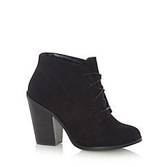 Call It Spring - Black faux suede 'Borovsky' high ankle boots