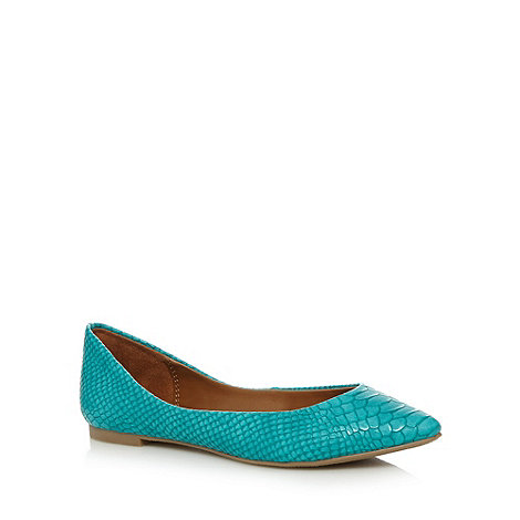 Call It Spring - Turquoise +Havirk+ snake detail pumps