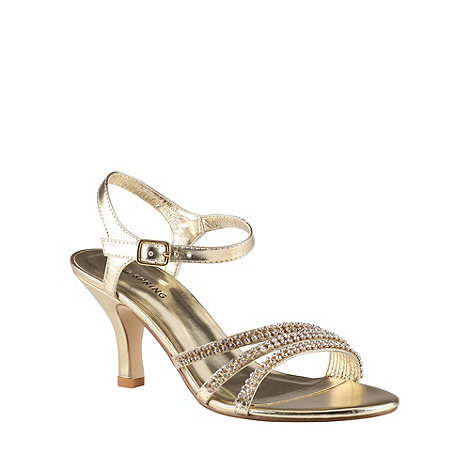 Call It Spring - Gold diamante +Unoalian+ sandals