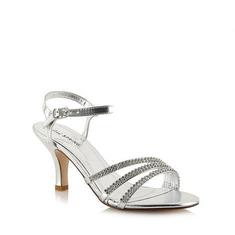 Call It Spring - Silver diamante +Unoalian+ sandals