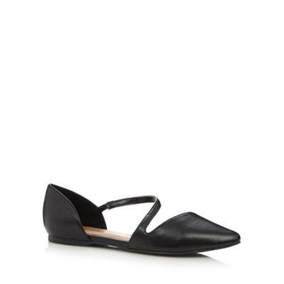 Call It Spring Black ´Treggio´ wraparound strap shoes - . -