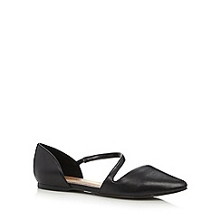 Call It Spring - Black 'Treggio' wraparound strap shoes