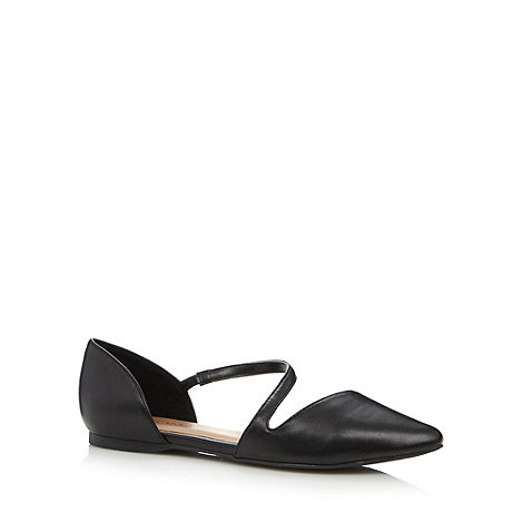 Call It Spring - Black +Treggio+ wraparound strap shoes