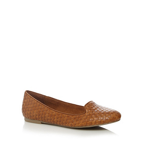 Call It Spring - Tan +Lezzara+ weave pumps