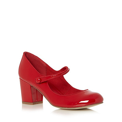 Call It Spring - Red patent +Yalinia+ mid block heel court shoes