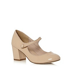 Call It Spring - Natural 'Yalinia' mid block heel court shoes