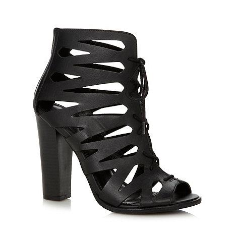 Call It Spring - Black +Ciaramira+ cutout high heeled boots