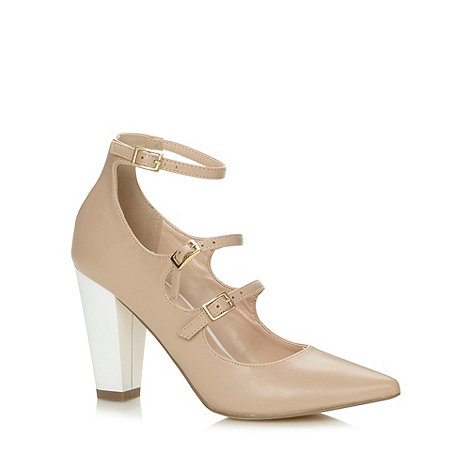 Call It Spring - Natural +Kluger+ triple strap high court shoes