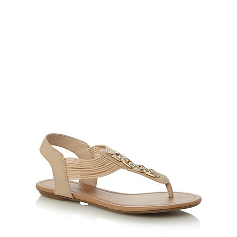 Call It Spring - Tan +Vuolo+ diamante strap sandals