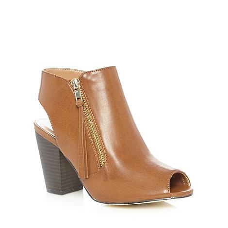 Call It Spring - Tan +Unuvia+ heeled cutout boots