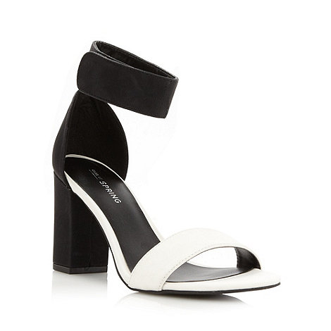 Call It Spring - White +Blevy+ high block heel sandals