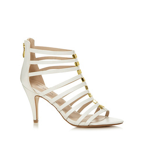 Call It Spring - White +Raptis+ high stiletto heel ankle strap sandals