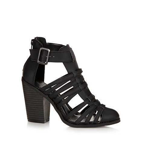 Call It Spring - Black +Cadatim+ high heeled gladiator strap sandals