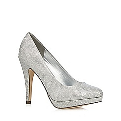 Call It Spring - Silver metallic 'Magnia' high court shoes