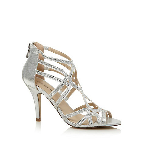Call It Spring - Silver +Lanese+ diamante strappy sandals