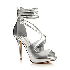 Call It Spring - Silver 'Dority' platform court shoes
