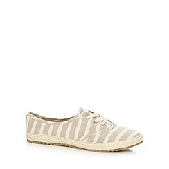 Call It Spring - Natural 'Zorewia' striped lace up espadrilles
