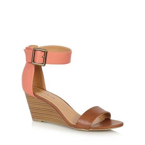 Call It Spring - Tan +Toffanelle+ mid wedge sandals
