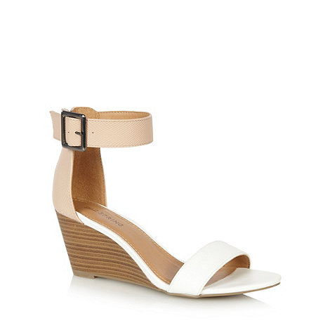 Call It Spring - White +Toffanelle+ mid wedge sandals
