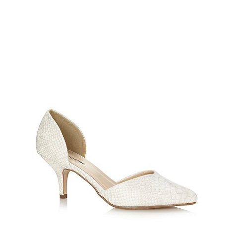 Call It Spring - White 'Gworewiel' two part court shoe