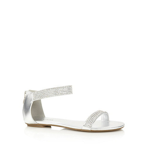 Call It Spring - Silver +Boccuzzi+ diamante embellished sandals