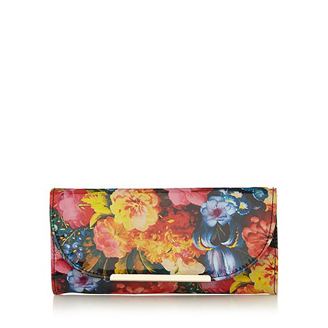 Call It Spring - Floral patent +Giova+ clutch bag