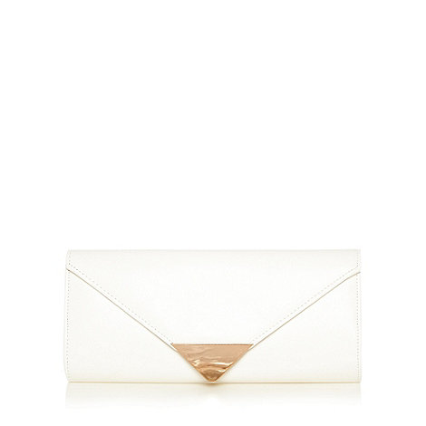 Call It Spring - White metal detail clutch bag