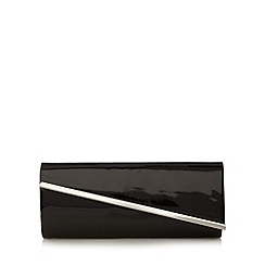 Call It Spring - Black patent 'Tropp' clutch bag