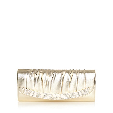 Call It Spring - Gold +Gussola+ clutch bag