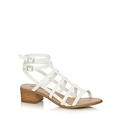 Call It Spring - White strap 'Afareviel' low heel sandals