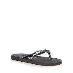 Gandys - Black plaited flip flops