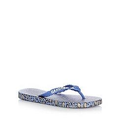 Gandys - Blue printed flip flops
