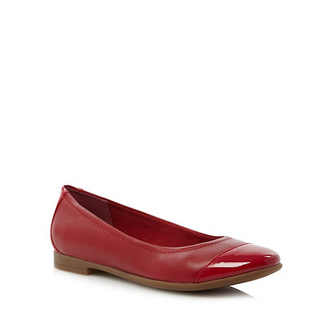 Clarks - Red +Atomic Haze+ pumps