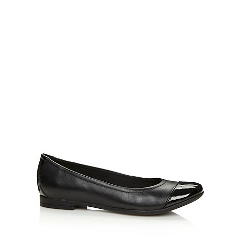 Clarks - Black +Atomic Haze+ patent leather pumps